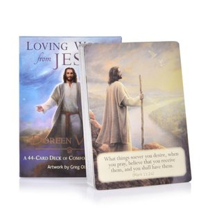 New Tarot Cards 44pcs Set Loving Words From Jesus Game Card Full English Pdf Guidebook For Child Adult Friend Party Board Games yxlWZt