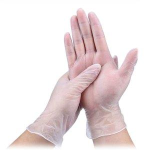 Ev ve Ofis için 100 Paketi Temizle Vinil Eldiven Lateks Ücretsiz Toz-Free Tek kullanımlık eldiven PVC Temizleme Sağlık Olmayan Steril Tek Kullanımlık Eldiven