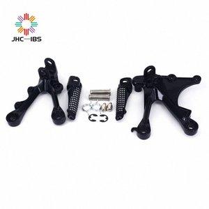 Motorcycle Rear Footpegs Foot Pegs Footrest Pedals Bracket For Ninja ZX6R ZX 6R 2005-2006 05 06 ZX636 ZX 636 05-08 AJ3K#