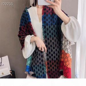 Nueva lujo diseñador de las mujeres de cachemira mezclado bufandas alta calidad Marca otoño y del invierno Turismo bufanda larga suave impresión Flores Mantón