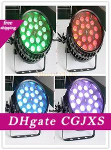 6 adet Çin Açık Rgbwa UV Led Par Can Işık 18x18w 6in1 Su geçirmez Par ile Yakınlaştırma
