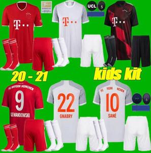 20 21 Bayern Monaco Kids kit + calzini Jersey di calcio 2020 2021 MULLER Robben LEWANDOWSKI VIDAL Alaba RIBERY Kimmich calcio uniformi camicie rosse