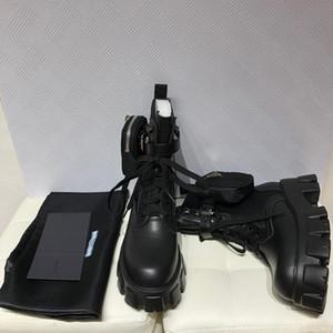 Designer Femmes Monolithe Motorcycle Bottes de luxe Sac noir genou haut bottes plate-forme de haute qualité avec la boîte Taille 35-40