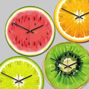 الإبداعية الفاكهة ساعة الحائط الجير الحديثة المطبخ الملونة الحائط ووتش ديكور المنزل غرفة المعيشة على مدار الساعة الفاكهة الاستوائية الفن التحفة الفنية fQkt #