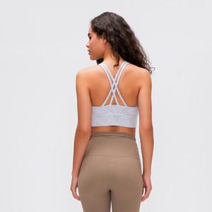 2020 New Sexy Sports Bra For Women Gym Brassiere Cross Back Strappy Fitness Yoga Bra Padded Workout Sport Top Plus Size