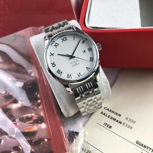 2020 yüksek kaliteli lüks mens saatler Üç iğne serisi Romen rakamıyla Kuvars İzle tasarımcı OMG Marka moda çeliğin askısı de ville saatler