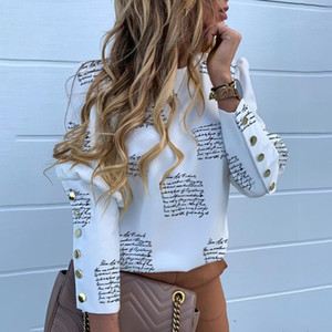 Women Autumn Fashion Button Long-sleeved Top Casual Shirt Female O Neck Pullover Boho Clothing Loose Plus Size Tops Ladies Blouse