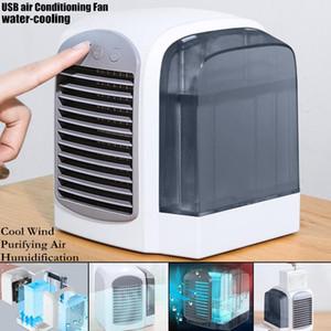 Gadget USB Acqua Raffreddamento Aria condizionata Ventilatore Purificante Umidificazione Cool Vento Vento A Tre Velocità Regolare la luce morbida Forte