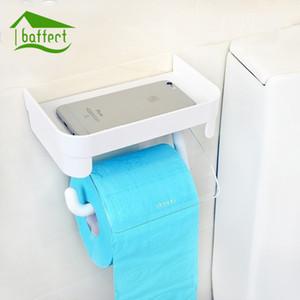 Baffect Duvar Telefon Depolama Raf Banyo Aksesuarları ile Tuvalet Kağıdı Tutucu Plastik Tuvalet Kağıdı Rulo Doku Tutucular Monteli