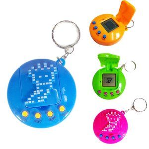 Cgjxsnew Tamagotchi Toys 2 Generation With Flip Cover Keychain Colorful Electronic Tamagochi Pets Toys Game Player With Opp Bag Packaging Dh