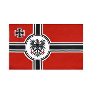 free shipping wholesale factory price 100% Polyester 90*150cm 3x5 fts German Empire DK Reich flag From 1903 To 1918 Iron