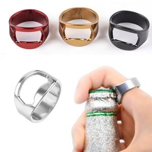 Finger-Ring-Flaschen-Öffner-Edelstahl-Bunte-Ring-Form-Öffner-Bierflasche-Öffner-Stab-Werkzeug Bierdeckelöffnungs Remover FWE802