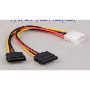 by dhl or ems 200pcs SATA Power Cable Splitter Molex 4pin to Serial ATA 15pin x 2 Male Female Y Hard Drive Cables 15CM