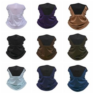 Soild Lenços de seda Turban Outdoor Sports Ciclismo Handwarp Crianças UV Protection Máscara Dustproof respirável Bandana Lenços Máscara EWC1134
