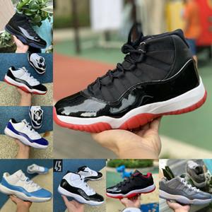 2020 Jumpman Pantone Bred 11 11s Chaussures de basket-ball  Air Jordan 25e anniversaire de minuit Marine Gamma Bleu Pâques Concord 45 Basse Columbia Blanc Rouge Sneaker