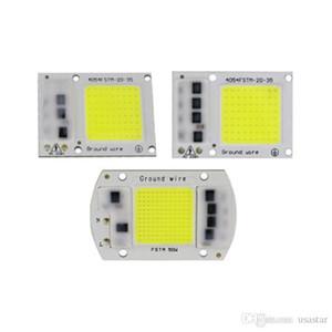 الصمام COB CHIP الطيف الكامل أبيض دافئ الأبيض AC220V / 110V مصنع تنمو ضوء 20W 30W 50W LED الكاشف مصباح وحدة 380-840nm CRESTECH