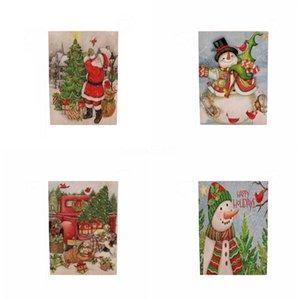 Christmas Decoration Banner Flag Party Decoration Santa Snowman Parachute Flags Garlands Christmas Decor Natal#573