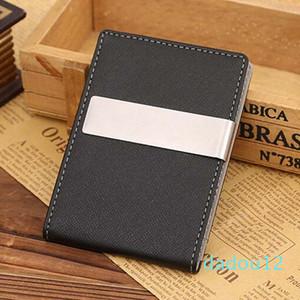 Designer-Wholesale- Mens Thin Leather Slim Magic ID Holder Money Clip Wallet HOT