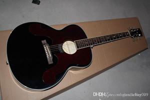 Freie Verschiffengroßverkauf 2014 neue schwarze 43-Zoll-Akustikgitarre kann Pickup (Add Geld) hinzufügen