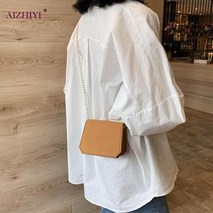 Mini Small Square Bag 2020 Fashion New Quality Solid Color Women's Handbag Frosted Leather Chain Shoulder Messenger Bags