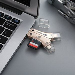 4 in 1 i Flash Drive USB Micro SDTF Kartenleser Adapter für iPhone Pro 11 x max 5 6 7 8 für iPad MacBook Android Camera