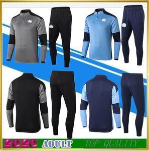 2020-21 Ein Top-Qualitätsfußball Sport gesetzt Anzug 2020 2021 Männer Trainingsanzug Jacke Fußball Trikot-Set Uniform