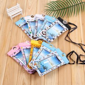 mY9XU universelle écran tactile piscine gonflable en PVC bande dessinée sac étanche suspendu téléphone extérieur sac gonflable transparent mobile nec Lk9sm