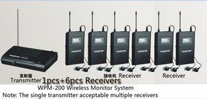 Stereo Boutique Stage Monitor System 1 Transmissor 6 Receiver Pacote Takstar WPM-200 UHF System Monitor sem fio no auscultadores da orelha
