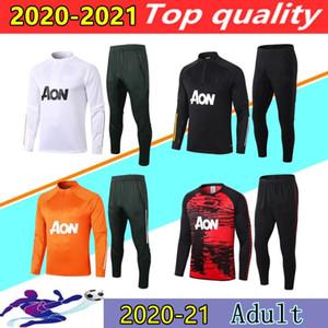 20 21 Manchester United treino de futebol Homens jaqueta de treino de futebol 2020 2021 MAN UTD POGBA treino de futebol soccer tracksuit jacket football training chándal de fútbol