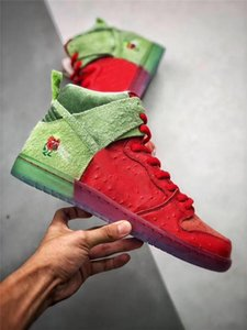 Lanzamiento SB Dunk alta Strawberry Cough púrpura inversa mofeta los zapatos de baloncesto Universidad Hombres Rojo espinacas mágico verde Ember