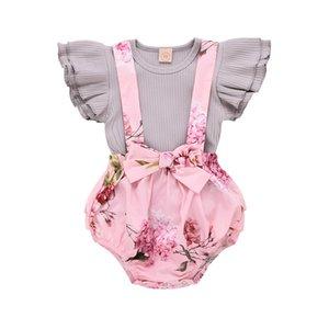 Wisefin Primavera roupa do bebê menina bebê Algodão Outfits Set Fashion Girl roupas de verão O-Neck infantil Sets Roupa de criança