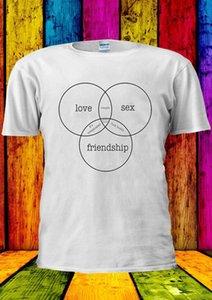 Love Sex Frienship пара Идеальный жилет Tee Tops Мужчины Женщины Unisex 1742 Крутые вскользь гордость тенниски людей Unisex Новая мода