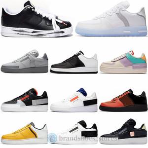 Nike Air Force 1 Type Nouvelle plate-forme N354 Chaussures de sport de N.354 Blanc sommet Noir  Gris  Hommes Formateurs Femmes Mode Chaussures de course