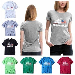Curto Todos os 2.020 América Roupa Trump Trump bordo T-shirt Cotton Train impresso o Casual Manga Sports Verão Tops T Eleição LJJP39 Qecm