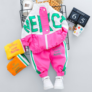 HYLKIDHUOSE Newborn Infant Clothing Sets 2020 Autumn Baby Girls Boys Clothes Fashion Coats Pants Children Kids Casual Costume LJ200826