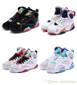 Дети 7 Basetball обуви для девочек и мальчиков дышащей Rubber Mesh Kids Спортивного Баскетбола обуви