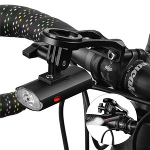 Bike Mount With Front Light Bicycle Headlight LED Rechargeable Bicycle Front Light Set Bike Computer Handlebar Holder