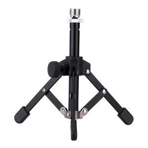 MS-12 Mini Tabletop Tripod Microphone Mic Stand Holder Foldable Desktop + Mic Clip Holder Bracket