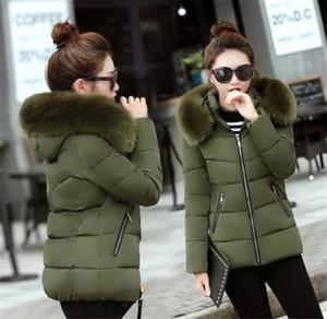 Solid Color Fur Hat Detachable Women Parkas New Women Outerwear 20FW Women Designer Coat Luxury Slim