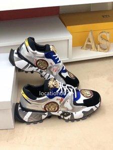 Versace 2020 Hot Artefatto Soddisfazione Scarpe Scarpe Uomo Casual Shoes Design Sport Nightclub Premium Materiale Platino Nero Brown
