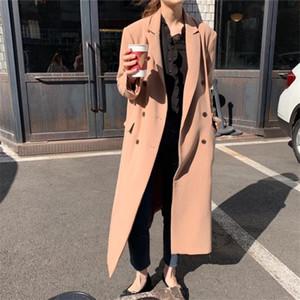 Alien Kitty 2020 classique douce en vrac Woollen Manteaux Casual Chic chaud Femme Mode frais double boutonnage femmes hiver manteau