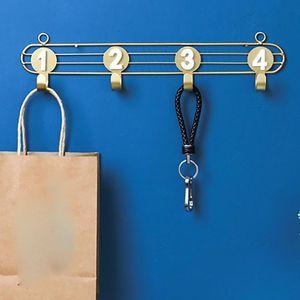 Cabinet Storage Rack Hanger Multifunction Organizer Wall Hooks Waterproof Iron Art Home Decor Living Room Numbers Clothes Keys