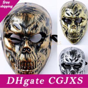 Scary Ghost-Skeleton Schädel-Kopf-Masken für Halloween-Maske Pvc Vollgesichtsabdeckung Cs Feldmaske