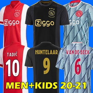 20 21 away ajax soccer jersey PROMES ÁLVAREZ ajax amsterdam camiseta de fútbol NERES 2020 2021 VAN DE BEEK TADIC ZIYECH maillot de foot