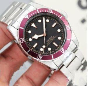 Tudorrr Luxo Mens Watch Aço Inoxidável Automatic Black Heritage BAY ROTOR MONTRES Designer de Homens color01 Relógios de pulso mecânicos