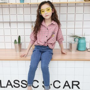 baby clothes spring new girl loose children plaid teens long-sleeved thin casual shirt Y200704