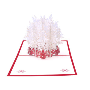 Merry Christmas Cards Christmas Tree Winter Gift 3D -Up Cards Decoration Stickers Laser Cut New Year Greeting