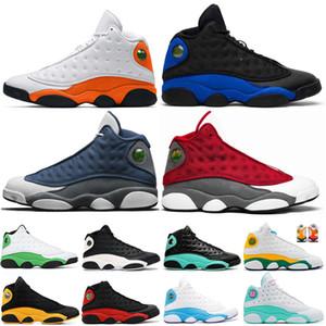 Étoile de mer 13 vert chanceux rouge Flint chat noir élevé Aire de jeux 13s Hommes Chaussures de basket-Reflective baskets sport Hyper Phantom Royale Formateurs