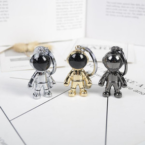 Дизайн автомобиля брелок сумка шарма сплава ювелирных изделий простой брелок держатель для женщин для мужчин Подарки Мода Металл Spaceman Key Chain Аксессуары