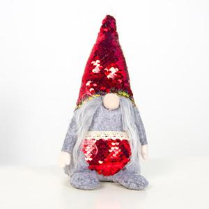 New Paillettegewebes Weihnachten Faceless Old Man Gnome Plüsch-Puppe spielt Ornamente Weihnachtsdekorationen für Haus Decoracion Navidad